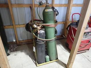 Oxy/Acetylene Torch Set w/ Cart. **BOTTLES NOT INCLUDED-LOCATED IN MILK RIVER**