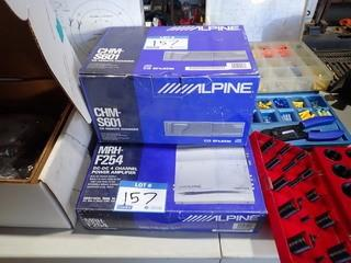 Lot of Alpine DC-DC4-Channel Amplifier and Alpine CHM-S601 CD Remote Changer. **LOCATED IN MILK RIVER**