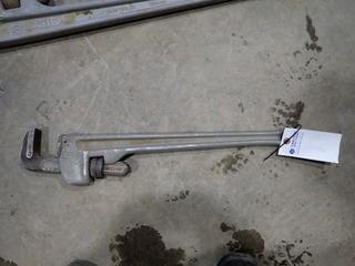 """Ridgid 24"""" Aluminum Pipe Wrench. **LOCATED IN MILK RIVER**"""