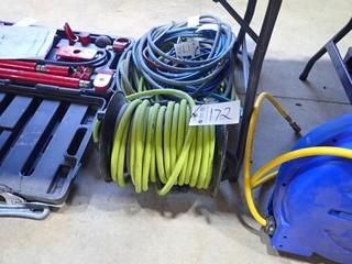 Lot of Air hose Reel and Asst. Air Hose. **LOCATED IN MILK RIVER**
