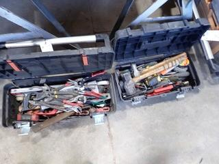 Lot of 2 Tool boxes w/ Asst. Hand Tools .**LOCATED IN MILK RIVER**