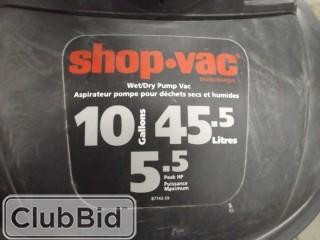 ShopVac Wet/Dry Pump Vac 10 Gal/45.5L 5.5 Peak HP