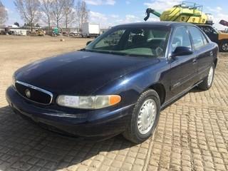 2001 Buick Century Custom Sedan c/w 3.1L, Auto, A/C. Can't Verify Kms. S/N 2G4WS52J811337265