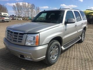 2004 Cadillac Escalade SUV c/w Vortec 6.0L V8, Auto, A/C. Showing 199,841 Kms. S/N 1GYEK63N04R312602