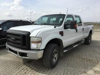 2008 Ford F350 XLT SD 4x4 Crew Cab P/U c/w 6.4L V8 Diesel, Auto, A/C. Showing 499,204 Kms. S/N 1FTWW31R38ED26848