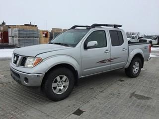 2005 Nissan Frontier 4x4 Crew Cab P/U c/w 4L V6, Auto, A/C. Showing 238,440 Kms. S/N 1N6AD07W55C461684