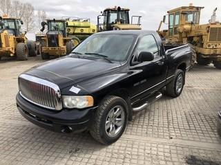 2003 Dodge Ram 1500 P/U c/w Magnum 4.7L, Auto. Showing 203,951 Kms. S/N 1D7HU16N43J562021