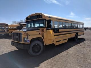 2002 Bluebird 45 Passenger Wheel Chair Accessible Bus c/w Cat 3126 Diesel, Auto, 11R22.5 Tires. Showing 399,651 Kms. S/N 1GDL7T1C62J512180