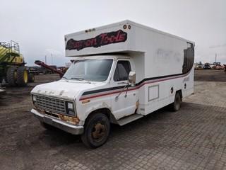 1980 Ford E350 Cube Van c/w V8, Auto, 15' Van Body, Man Door c./w Misc. Contents. S/N E37LHGJ6064