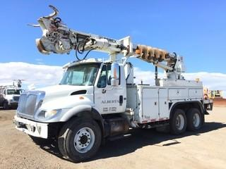 2007 International 7500 T/A Auger Truck c/w HT570, Auto, A/C, Terex Telelect Commander C5052 S/N 2061230952, Air Ride Susp., 385/65R22.5 Front, 11R22.5 Rear Tires. Showing 167977 Kms. & 9875 Hours. S/N 1HTWNAZT17J427709
