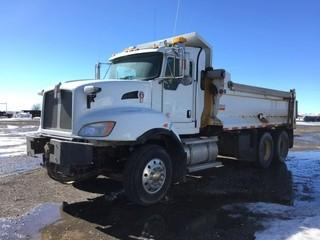 2010 Kenworth T470 T/A Gravel Truck c/w Cummins, 13 Spd, A/C Extended Cab, , Air Ride Susp., Cascade 16' Box, 3 Way Lockers, Plumbed For Pup, 11R22.5 Tires. Showing 243,687 Kms & 5364 Hours. Work Orders Available. Wheatland County.  Unit # 591. Safety Expires Dec. 2019. S/N 3BKBL50X1AF944005