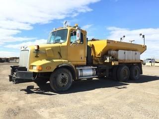2001 Western Star T/A Sanding Truck c/w C-10 350 HP, 13 Spd. Showing 297,765 Kms. S/N 2WLLCD1F51K971913