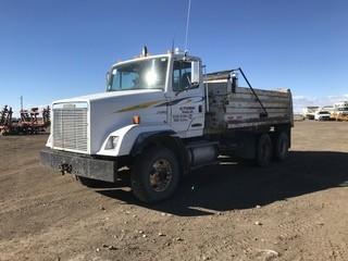 Freightliner T/A Gravel Truck c/w Cat 3176, 10 Spd, 15' Box, Tarp, Plumbed For Pup. S/N 1FVX1EBB1SL649576