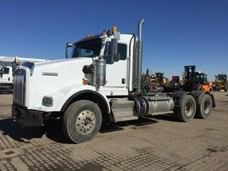 2012 Kenworth T800 T/A Truck Tractor c/w Cummins 525 HP, 18 Spd, Extended Cab, 12,000 LB Front, 46,000 LB Rear Axles, Wet Kit, Aluminum Wheels, 11R22.5 Tires. Showing 457,596 Kms & 8,990 Hours. Work Orders Available. Wheatland County. Unit # 595. Safety Expires Aug 2019. Safety Expires Aug 2019. S/N 1XKDD40XXCJ953912