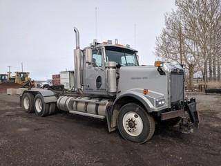 2004 Western Star 4900FA T/A Truck Tractor c/w Cat C15 475 HP, 18 Spd, A/C, Plumbed For Plow, Requires Repair. Showing 452,268 Kms. Safety Expires June 2019. S/N 5KKHAEAV04PN41357