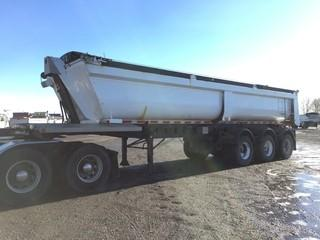 2013 Cross Country Triaxle End Dump Trailer c/w Air Ride Susp., Electric Tarp, 11R22.5 Tires.  Work Orders Available. Wheatland County. Unit # 12506. Safety Expires Oct. 2019. S/N 2C9EUR337DM183095