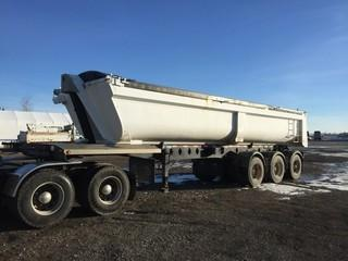 2012 Cross Country 32' Triaxle End Dump Trailer c/w Air Ride Susp., Electric Tarp, 11R22.5 Tires.  Work Orders Available. Wheatland County. Unit # 597. Safety Expires Nov. 2019. S/N 2C9EUR337CM183841