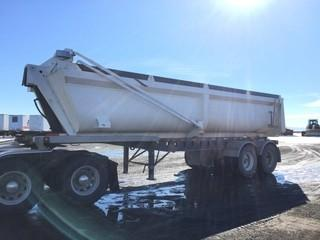 2006 Arne's T/A End Dump Trailer c/w Air Ride Susp., Electric Tarp, 11R22.5 Tires.  Work Orders Available. Wheatland County. Unit # 584. Safety Expires Jan. 2020. S/N 2A90730266A003209