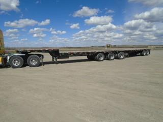 1995 Doepker Super B Step Deck Trailers c/w Sliding King Pins At Both Ends, 255/70R22.5 Tires. Pup S/N 2D9HBFA22S1016723. S/N 2D9HBFZ34S1016722