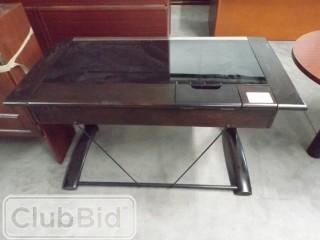 4'x2' Glass Top Desk w/Drawer