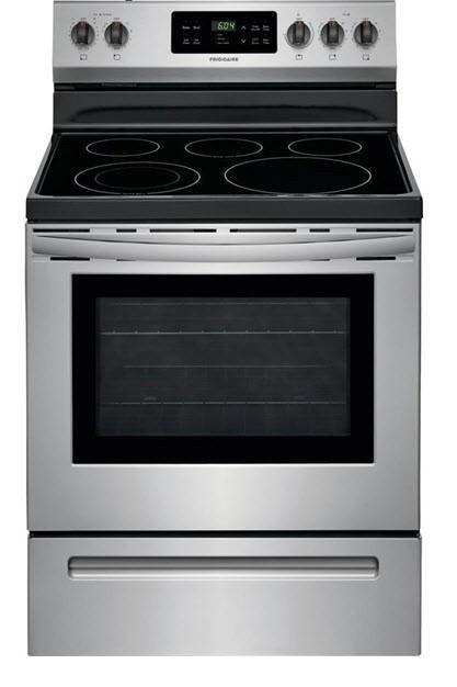 Frigidaire CFEF3054US 30-in 5 element 5.3 cu ft Electric Range with Self-cleaning Oven Stainless Steel - Scratch & Dent