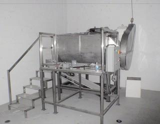 1976 Patterson Industries 38 Cu. Ft. Stainless Steel Ribbon Blender, S/N 760A-2095