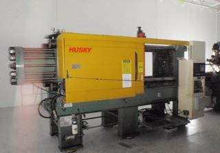 "1990 Husky ""XL300"" Horizontal Injection Moulder, S/N 9425, w/ General Conveyor s/n 980344"