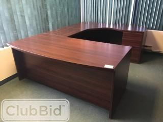 "U-Shape 8'5""x6' Desk w/6 Drawers"