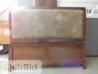 Double Suede Headboard Bed Frame Set w/Footboard & Rails