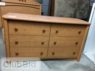 "6 Drawer Dresser 51""x19"""