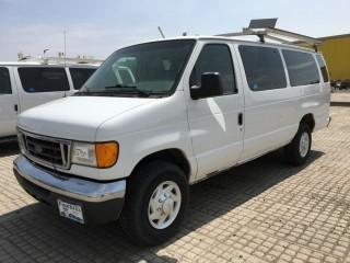 2007 Ford Econoline XLT Trim Van c/w Triton 5.4L, Auto, A/C, Cargo Divider, Pipe/Ladder Rack. Showing 207,977 Kms. S/N 1FBSS31L57DB09672