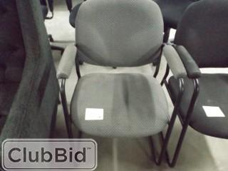 Qty of (6) Sled Base Side Chairs