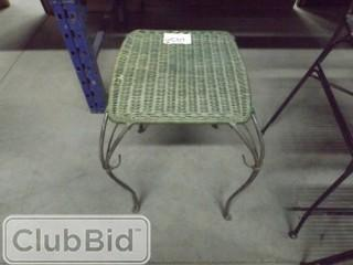 Green Wicker Table
