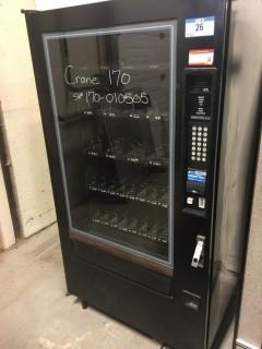 Crane Model 170 (5) Drawer Vending Machine. SN 170-010505