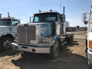 Selling Off-Site 1998 Western Star T/A Truck Tractor, Cat 3406E, Eaton Fuller 18 Speed Transmission, Chelsea PTO, 11R 24.5 Tires, 837,200 kms, 34,677  hrs, Safety Expired 01/2019, S/N 2WLPCDCJ1WK949384, Not Running, Requires Repair.  Location:  339 Aquaduct Dr., Brooks, AB Call Tim For Further Information 403-968-9430.