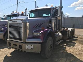 Selling Off-Site 2004 Freightliner T/A Day Cab Truck Tractor, Eaton Fuller 18 Speed Transmission, Chelsea PTO, 11R 24.5 Tires, 980,964 kms, 27,006 hrs, S/N 1FVHALCK05DN62760, Not Running.  Location:  339 Aquaduct Dr., Brooks, AB Call Tim For Further Information 403-968-9430.
