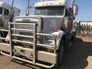 Selling Off-Site 2007 Freightliner Classic T/A Truck Tractor, Eaton Fuller 18 Speed Transmission, Chelsea PTO, 11R 24.5 Tires, 1,271,143 kms, 27,432  hrs, S/N 1FUJF6CK37DX37756.  Location:  339 Aquaduct Dr., Brooks, AB Call Tim For Further Information 403-968-9430.