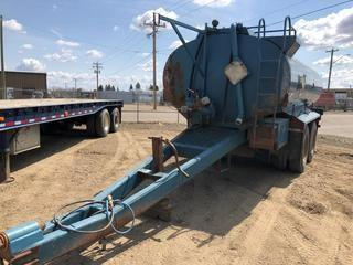 Selling Off-Site 1995 Hamms 15,855 Litre T/A Pup Tank Trailer c/w 11R24.5 Tires. S/N 2G9TCNN29V1011124.  Location:  339 Aquaduct Dr., Brooks, AB Call Tim For Further Information 403-968-9430.