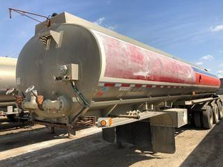 Selling Off-Site 1997 Advance 37,000 Litre Triaxle Tank Trailer, 11R24.5 Tires. S/N 2AESVBF7VV000150.  Location:  339 Aquaduct Dr., Brooks, AB Call Tim For Further Information 403-968-9430.