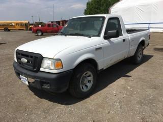 2007 Ford Ranger XL P/U c/w 2.3L, 5 Spd. Showing 249,062 Kms. S/N 1FTYR10D47PA77764