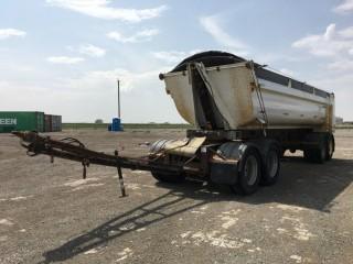 2008 Midland Quad Wagon End Dump Trailer c/w Air Ride Susp., 11R24.5 Tires. S/N 2MFB2R6F48R004857