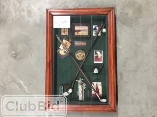 "Vintage Golf Shadowbox Wall Art 14"" x 21"""