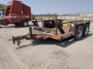 Triple L 1014 6'x16' T/A Power Deck Trailer c/w 7,000 LB Axles, Hyd. Power Drop Deck. 235/85/16 Tires. S/N 5DYAA19266C002395