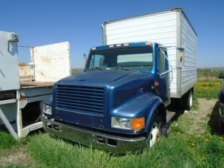 Selling Off-Site 1991 International 4000 Series S/A Van Body. Requires Repair. S/N 1HTSCNKM1MH374172.  Located At Mountain View Poultry For Viewing Call John 403-813-5148.