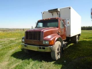 Selling Off-Site 1990 International 4000 Series S/A Van Body. Requires Repair. S/N 1HTSCCFP1LH277612.  Located At Mountain View Poultry For Viewing Call John 403-813-5148.