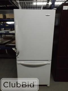 "Whirlpool ""GOLD"" White Fridge w/ Drawer Freezer 66"" x 30"""