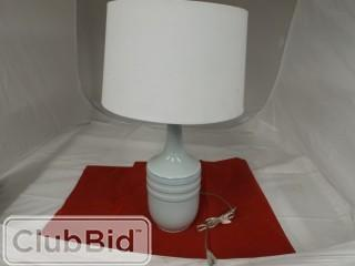Light Blue Lamp w/ White Shade