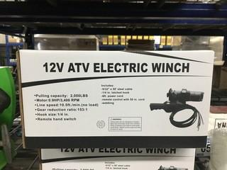 Proceeds to 4H - NEW! 12V ATV Electric Winch, As a proud Sponsor, Century Auctions will donate proceeds from the sale of this Lot to 4H Alberta.ATV Electric Winch 12V