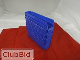 "Quantity of (8) Quantum Storage Bins 3"" x 11"""