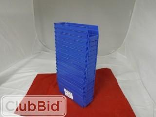 "Quantity of (18) Quantum Storage Bins 4"" x 11"""